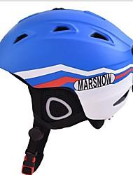 Abs un modelo integrado de moda chapa chapa doble casco profesional de esquí de protección casco
