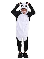 kigurumi Pyjamas Panda Collant/Combinaison Chaussures Fête / Célébration Pyjamas Animale Halloween Mode Brodée FlanelleCostumes de