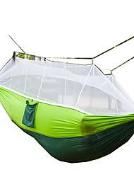 Hamaca para camping con red antimosquitos Plegable Nylón para Camping Camping / Senderismo / Cuevas Al Aire Libre Viaje