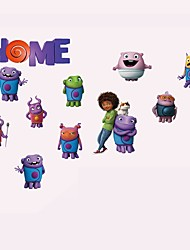 Home Quote Wall Stickers Cartoon Alien Figure & Animals Pig Wall Decals Removable Sticker Home Decor For Baby Kids Room Living Room