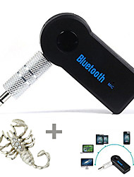 Stereo 3.5mm Blutooth Wireless for Car Music Audio Receiver Adapter Aux A2dp and Free of Sticker--1 pcs