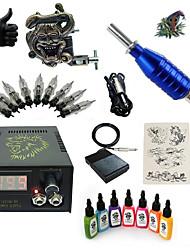 Basekey High Born Tattoo Kit H015-Z6 1 Machine With 7 Inks Power Supply 10PCS Needles