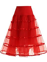 Déshabillés Robe trapèze Robe de soirée longue Genou Polyester Tulle