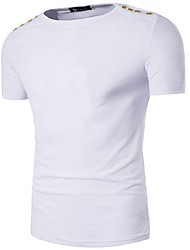 HOT! 6 Color S-3XL Plus Size Men's Going out Casual/Daily Simple Spring Summer T-shirtSolid Round Neck Short Sleeve Cotton Thin