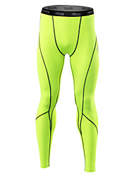 21Grams Men's Running Tights Quick Dry Anatomic Design Soft Held-In Sensation Compression Reflective Strips Tights for Exercise & Fitness