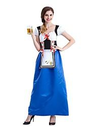 Costumes de Cosplay Tenue Fête d'Octobre/Bière Cosplay Fête / Célébration Déguisement d'Halloween Rétro Robe Tablier Fête d'Octobre