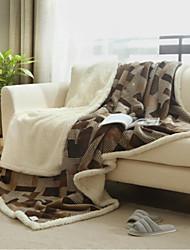 Flanelle Géométrique Coton couvertures
