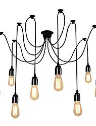 Vintage múltiples cabezas ajustable diy techo araña colgante de iluminación sala de estar comedor lámpara creativa araña suspensión