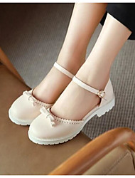 Women's Sandals Comfort PU Summer Casual Comfort Blushing Pink White 1in-1 3/4in