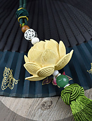 DIY Automotive Pendants Lotus Bless the peace High-grade Stereo Decoration Buxus sinica Continuous Leaf Green Single tassels Car Pendant & Ornaments