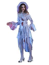 Une Pièce/Robes Costumes de Cosplay Pour Halloween Squelette/Crâne Zombie Cosplay Fête / Célébration Déguisement d'Halloween RétroRobes