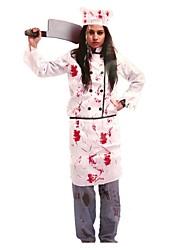 Cosplay Kostüme Skelett/Totenkopf Zombie Cosplay Fest/Feiertage Halloween Kostüme Vintage Mantel Hosen Schürze Mützen Halloween Karneval