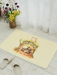 Cartoon Flannel Bath Mats