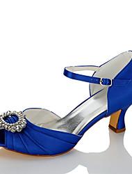 Mujer Sandalias Confort Satén Verano Otoño Boda Vestido Fiesta y Noche Pedrería Tacón Stiletto Azul 5 - 7 cms
