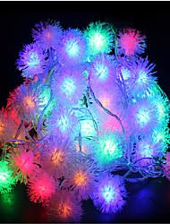 10m 60led rgb navidad vacaciones cadena luz fiesta de la boda decorar la cortina de luz 220v