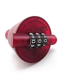 Xc-075 garrafa de plástico ABS bloqueio de senha 3 dígitos senha criativo vinho tinto preservação de vácuo jar gift