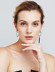 Femme Boucles d'oreilles Perle imitée Mode Personnalisé Décalage Cuivre Forme de Cercle Bijoux PourSoirée / Fête Quotidien Soirée