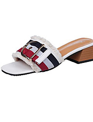 Women's Sandals Comfort Fabric Summer Casual Comfort Black White Flat