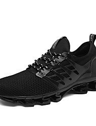 Men's Athletic Shoes Running Comfort Tulle Stretch Satin Spring Fall Athletic Casual Outdoor Split Joint Flat Heel Green Ruby Black Flat