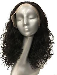 Mujer Pelucas sintéticas Encaje Frontal Medio Rizado Castaño Medio Peluca afroamericana Para mujeres de color Peluca natural Las pelucas