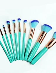 10pcsConjuntos de pincel Pincel para Blush Pincel para Sombra Pincel para Lábios Pincel de Sombrancelha Pincel de Delineador de Olhos