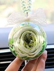 Diy pendentes automotivos decoração flor presente carro pingente&Ornamentos vidro cristal