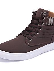 Men's Sneakers Comfort Light Soles Spring Summer Fall Winter PU Walking Shoes Casual Outdoor Buckle Flat Heel Gray Brown Green