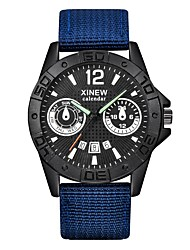 Men Sports Military Quartz Watch Man Analog Date Clock Nylon Strap Wristwatch Relogio Masculino montre homme