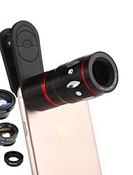Объектив мобильного телефона coiorvis 12x телефото 0.67x широкий угол 180 глаз рыбы 15x макросъемка внешнего объектива