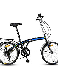 Bicicleta Dobrável Ciclismo 7 Velocidade 20 polegadas YINXING Freio em V Sem Amortecedor Quadro de Aço Carbono DobrávelComum