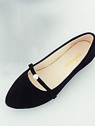 Damen Flache Schuhe Komfort PU Sommer Schwarz Grau Rosa Flach