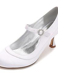 Damen Hochzeit Schuhe Mary Jane Pumps Komfort Satin Frühling Sommer Hochzeit Party & Festivität Kleid Strass Glitter Band-Bindung