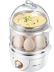 Egg Cooker Double Eggboilers Santé Fonction de synchronisation Conception verticale Style mini Indicateur d'alimentation Détachable 220V