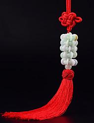DIY автомобильные подвески автомобиль украшения китайский стиль мода удача красный кисть автомобиль кулон&Орнамент нефрит