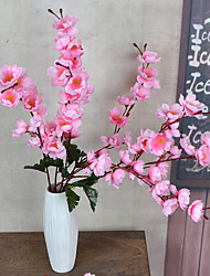 1 Branch Plastic Plum Plants Tabletop Flower Artificial Flowers Living Room Bedroom Decoration Flower Pastoral Style Wedding Supplies