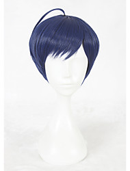 14inch Short Dark Blue A3 Tsumugi Tsukioka Wig Synthetic Party Hair Wig Anime Cosplay Wigs CS-336H