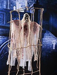 Décorations de Halloween fantômes de corde de chanvre grands fantômes horreur jouets sonores accessoires de brise de maison hantée