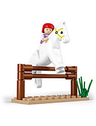 Building Blocks For Gift  Building Blocks Horse Plastics 6 Years Old and Above Toys