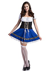 Costumes de Cosplay Tenue Fête d'Octobre/Bière Cosplay Fête / Célébration Déguisement d'Halloween Rétro Robes Fête d'OctobreFéminin