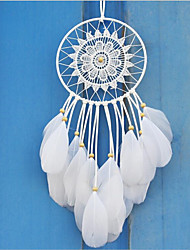Catch A Dream Net Hang Decoration Household Adornment White Contracted Feather Handicraft Article To Hang A Wedding To Decorate