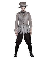 Costumes de Cosplay Zombie Vampire Cosplay Fête / Célébration Déguisement d'Halloween Rétro Manteau Pantalon Chapeau Halloween Carnaval