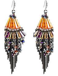 Women's Drop Earrings Tassel Personalized Handmade Oversized Alloy Taper Shape Jewelry For Other Gift Stage