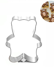 Little Bear Cookies Cutter Stainless Steel Biscuit Cake Mold Metal Kitchen Fondant Baking Tools