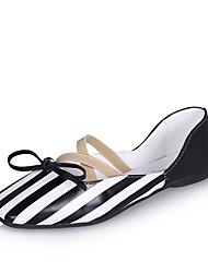 Women's Sandals Gladiator Comfort PU Spring Summer Dress Gladiator Comfort  Flat Heel Black White Flat
