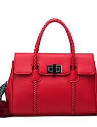 Women Bags All Seasons Cowhide Shoulder Bag with for Casual Outdoor Red