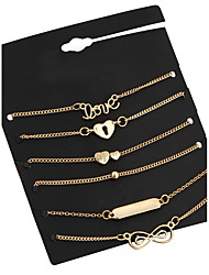 Lureme® Women's Bracelet Jewelry Basic Gothic Oversized Bohemian Punk Adjustable Hip-Hop Hypoallergenic Classic Alloy Circle Tube Geometric For