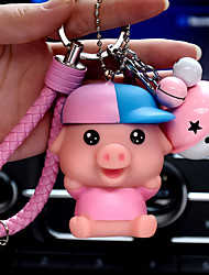 Bag / Phone / Keychain Charm Pig Jingle Bell Cartoon Toy Phone Strap PVC
