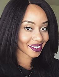 Capless человеческие волосы парики кудрявые прямые естественные цвет бразильские remy волосы для черных женщин парик
