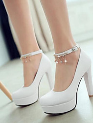 Femme Chaussures Polyuréthane Eté Confort Chaussures à Talons Avec Pour Décontracté Blanc Bleu Rose