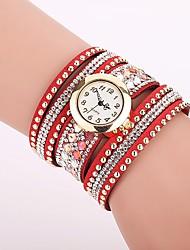 Mujer Reloj de Moda Simulado Diamante Reloj Reloj Pulsera Reloj creativo único Reloj Casual Chino Cuarzo La imitación de diamante PU Banda